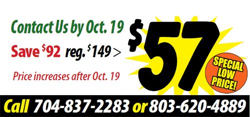 Contact Us by Oct. 19 Save $92 reg. $149 Price is $57. Price increases after Oct. 19 $57 Special Low Price
